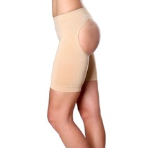 NEW WOMEN'S VALENCIA SHAPEWEAR SLIMMING BUTT LIFTER BOY SHORT BEIGE STYLE #8069