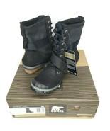 SOREL Womens Size 6 SlimBoot Lace Major Boot Gray & Black Waterproof - $158.39