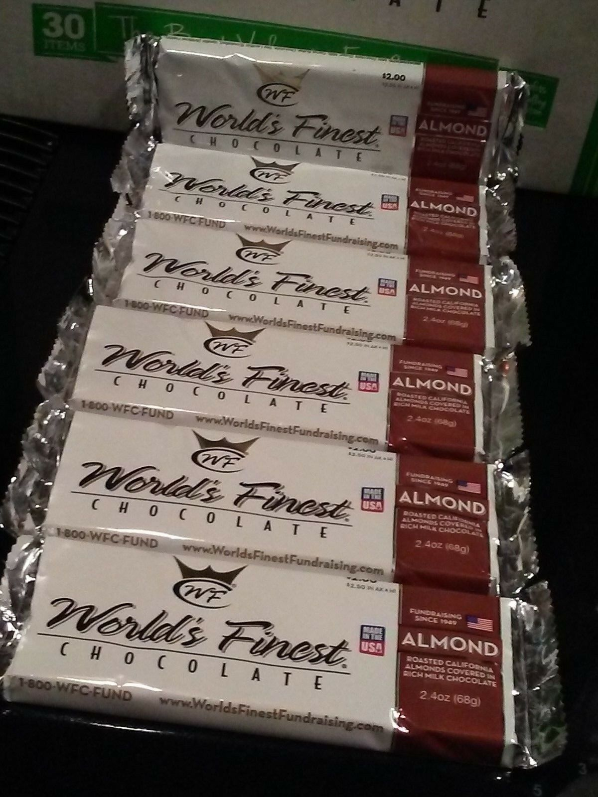 Primary image for WORLD'S FINEST CHOCOLATE Almond 12  x $2.00 Each Bars