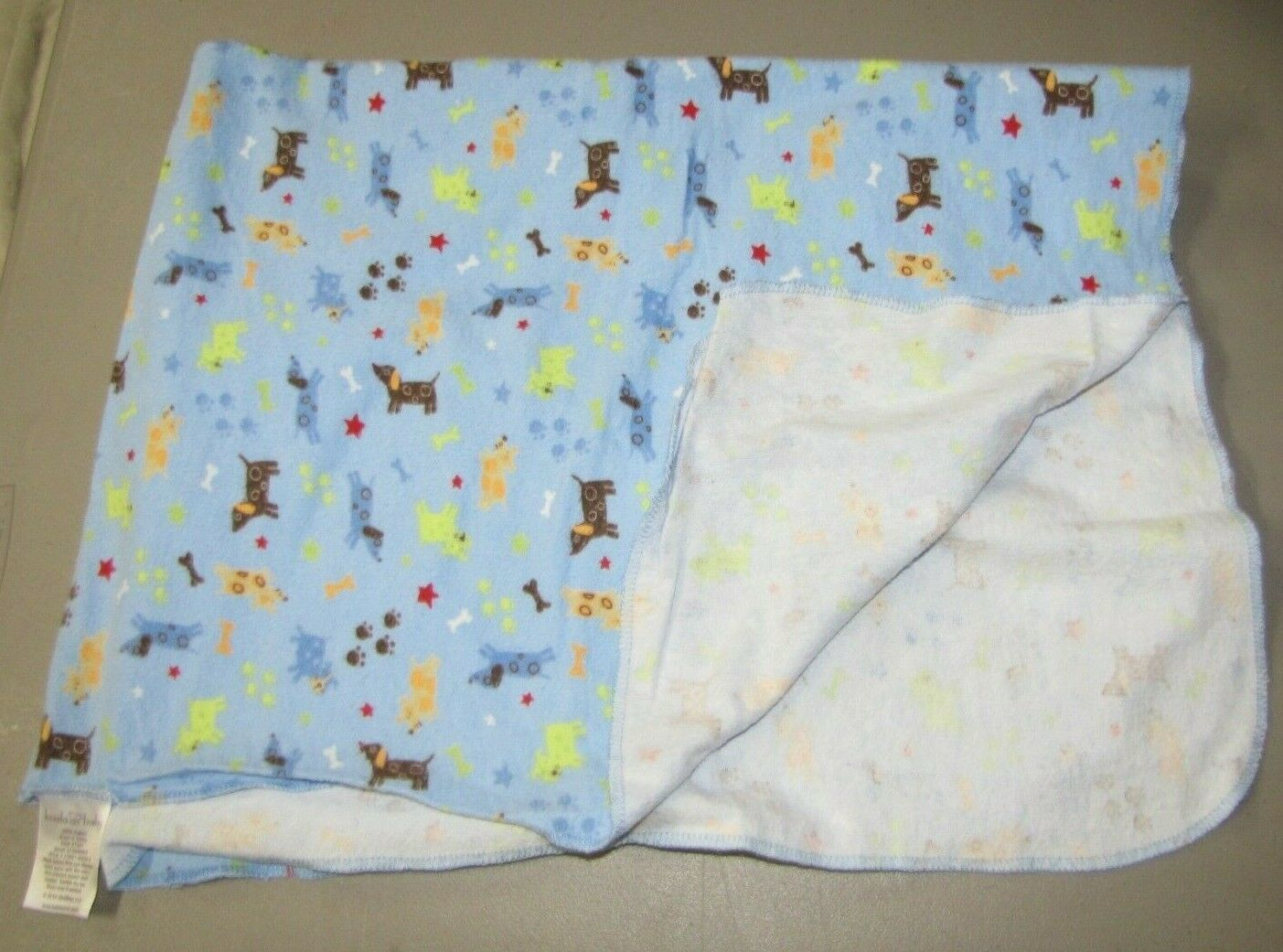 Koala Baby Blue Cotton Flannel Dog Puppy Receiving Swaddle Blanket - $19.79