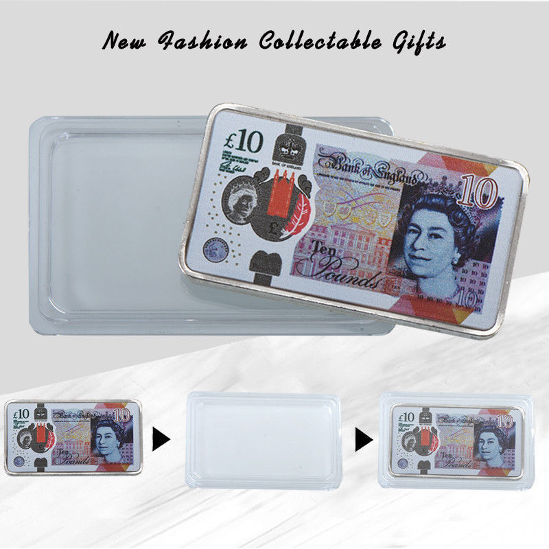 WR England 2017 New 10 Pound Note Printed Silver Clad Bar Great Britain Keepsake image 5