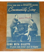 Milton Berle Gillette Razors Community Sing Official Song Book; Lyrics 1... - $13.00