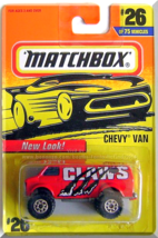 Matchbox - Chevy Van: Collector #26/75 (1997) *Red Edition / New Look!* - $3.00