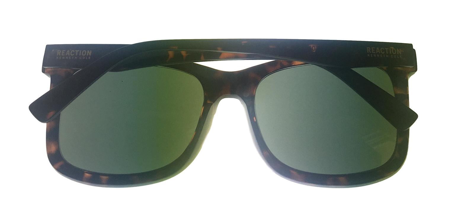 Kenneth Cole Reaction Mens Soft Square Shiny Tortoise Sunglass KC1324 52N image 5
