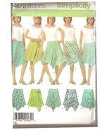 Misses Skirts with Hemline Variations Pattern Sizes 4-10 Simplicity 4672... - $5.99