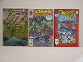 SPIDER-MAN 2099 #1 + 2099 UNLIMITED #1 + DOOM 2099 - FREE SHIPPING - $18.70