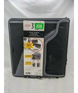 "Five Star 3"" Zipper Binder Expanding File Laptop Black Gray - $13.45"
