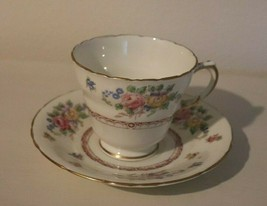 Vintage Delphine Charmian Pattern English Bone China Cup and Saucer SHIP... - $21.73