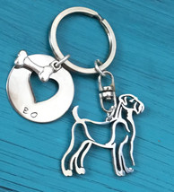 Airedale Terrier Custom Keychain, Bingley Terrier, Waterside Terrier, Airedale J - $18.00