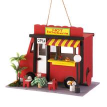 House For Birds, Plain Wooden Birdhouse, Modern  Hummingbird Hot Dog Bir... - $24.58