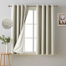 Deconovo 100% Blackout Room Darkening Curtains Thermal Insulated Curtain... - $41.98
