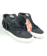 Vans SK8 Hi Leather Fringe Size 5.5 M EU 35 Women's Skate Moccasin Shoes leather - $64.41
