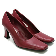 Nordstrom's Women's Classic Square Toe Leather Heels Pumps Made In Italy... - $29.45