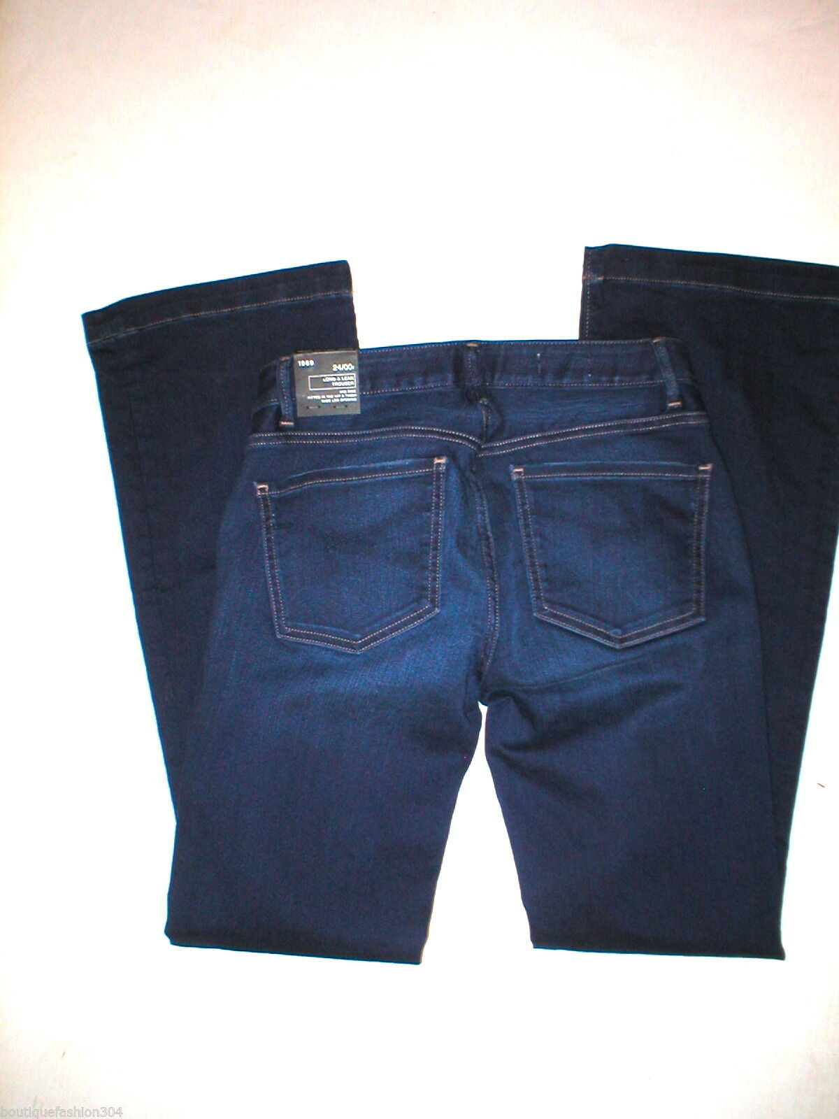 New $70 Womens Gap 1969 Long Lean Jeans NWT 24 00 27 X 32 Flare Premium Mid-rise