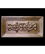 Decorative Baroque Frame sculpture plaque in Bronze Finish - $84.15