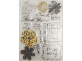 Thank You Clear Stamp Set, Includes Sentiments and Florals