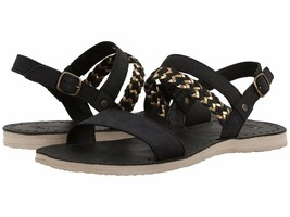 Women's UGG® Elin Leather Sandals, 1015035 Size 8 Black Authentic - $49.95