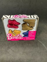 Barbie Ken Dolls Shoes & Boots Red Casual, Gold Ankle, Mustard Hike, Navy Dress - $4.94