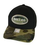 Dallas Oval Patch Style Adjustable Baseball Cap (Black/Camo) - $13.95