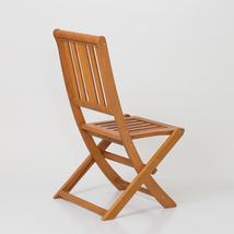 Armless Folding Chair,  Eucalyptus Patio Furniture Dining Collection image 3