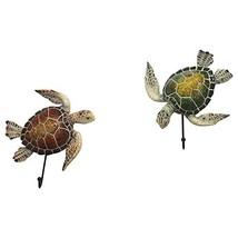 "Comfy Hour 5"" Set Turtle Coastal Ocean Theme Decorative Wall Hanger image 1"