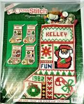 1982 McNeil 4 in 1 Christmas Stocking Cross Stitch  Kit 8108  - $17.81