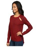 MICHAEL Michael Kors Women's Red Cinnabar Metallic Raglan Cut Out Sweate... - $28.79