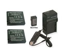 Two Batteries BP-DC10-E BP-DC10-U + Charger for Leica D-LUX 5 E D-LUX5E ... - $39.54