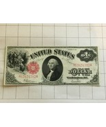 1917 Series $1 One Dollar US Large Legal Tender Red Seal Bank Note - $250.00