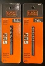 "Black & Decker 19104 1/8"" HSS Premium Bullet Drill Bit 2 - packs of 2pcs. - $3.12"