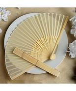 Wholesale Silk Folding Wedding Party Favor Fans Ivory YSefa - $131.68
