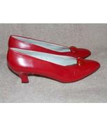 Liz Claiborne RED Heel Pumps 10N Narrow Leather Women Used - $39.59