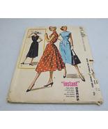 Vintage 1956 Mc Call's Pattern 3742-A Misses Instant Dress size 14 bust 32 - $10.00