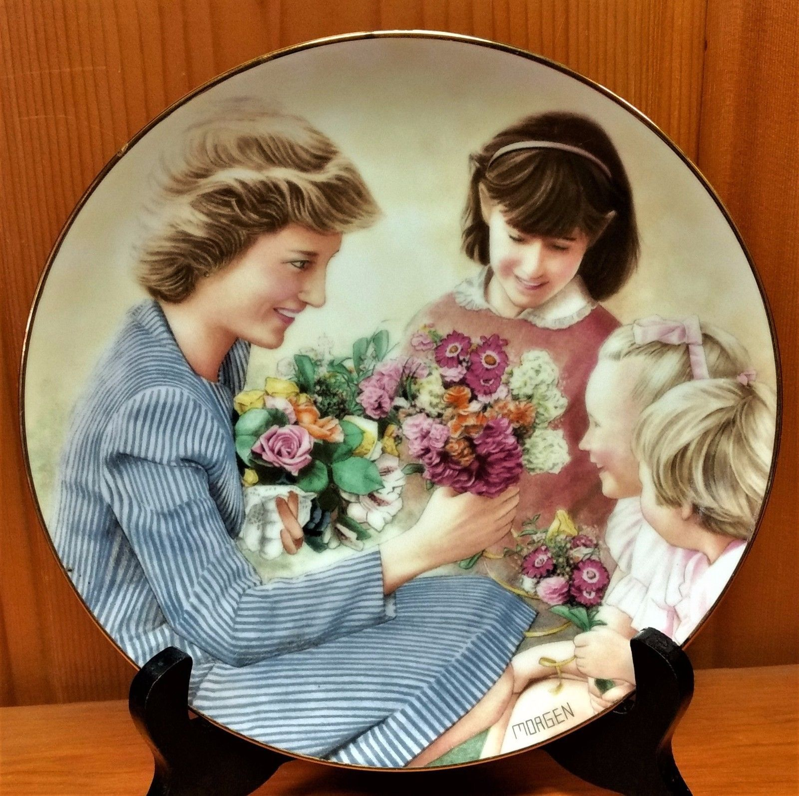 Primary image for Flowers For Diana Commemorative Plate - Danbury Mint Limited Edition 1988
