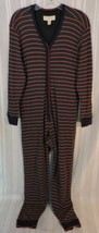 Victoria's Secret Long Jane Johns Thermal pajamas one-piece SMALL Striped S CUTE - $23.30