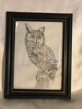 Framed Owl drawing - $4.95