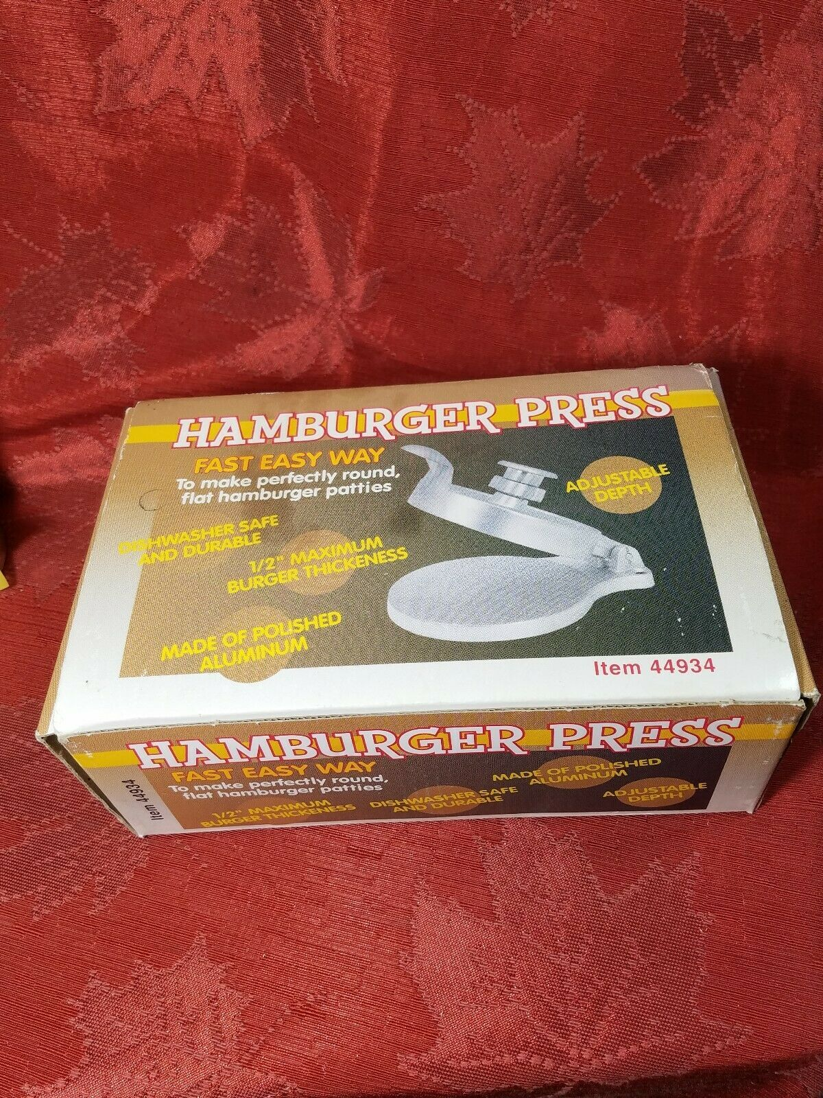 Vintage Harbor Freight Tools Metal Hamburger Press Item 44934