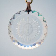 Swarovski 25mm Clear Sun Medallion image 1