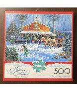Buffalo Puzzle Holiday Collection 500 Piece Puzzle Christmas Party -Exce... - $12.82