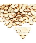 40 Honeycomb Wood Cabochons Flatbacks  Flat Backs Hexagon Small 10mm Bee Crafts - $4.50