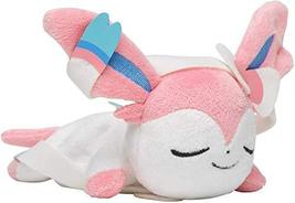 Pokemon Center Original Plush Doll KUTTARI Sylveon (NYMPHIA) Sleeping VE... - $110.63