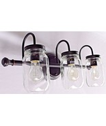 Vintage Edison Bulb Type Fixture Enclosed Clear Glass Wall Bath Vanity U... - $47.32+