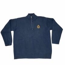 Lauren Ralph Lauren Mens Blue Cotton 1/4 Zip Mock Neck Sweater Size Large - $22.69