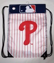 Philadelphia Phillies MLB Keeper Knapsack Backpack White With Red Pinstr... - $12.50