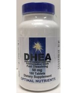 (New) Optimal Nutrients DHEA Fast Dissolving 50mg, 180 Tabs - $20.78