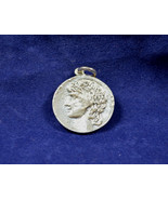 Antinous and Hadrian twosided Sterling Silver Medallion - $49.90
