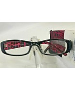 Foster Grant Womens Vianca Black Purple Reading Glasses w/Case +2.50 - $6.93