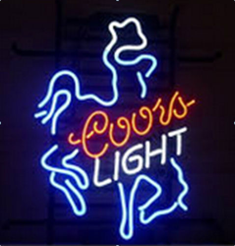 "New Coors Light Cowboy Beer Neon Sign 20""x16"" [Ship From USA]"