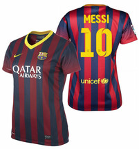 NIKE LIONEL MESSI FC BARCELONA WOMEN'S HOME JERSEY 2013/14. - $140.00