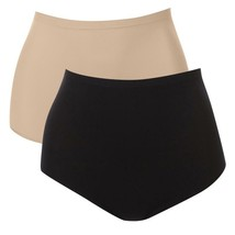 Rhonda Shear 2-pack Seamless High-Waist Panty in Black/Nude, Large (510-... - $15.83